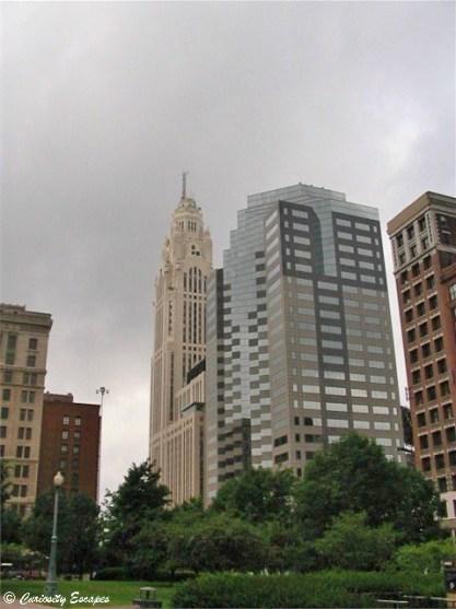 Les gratte-ciel de Columbus, la capitale de l'Ohio
