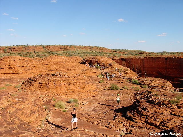 King's canyon dans le centre de l'Australie