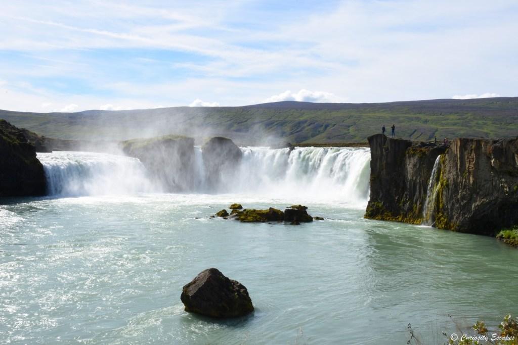 Cascade des dieux, Godafoss, dans le nord de l'Islande