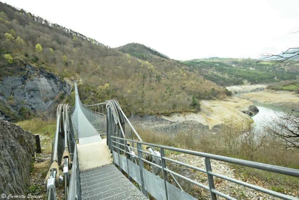 Passerelle du Drac du lac de Monteynard