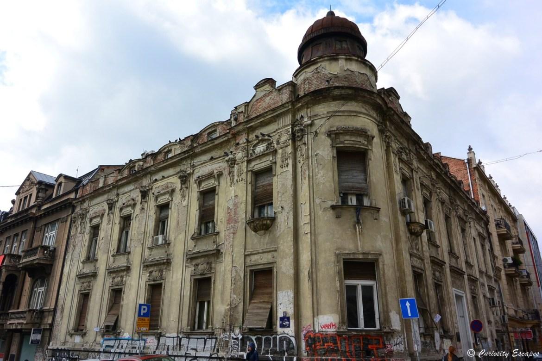 Bâtiment délabré à Belgrade