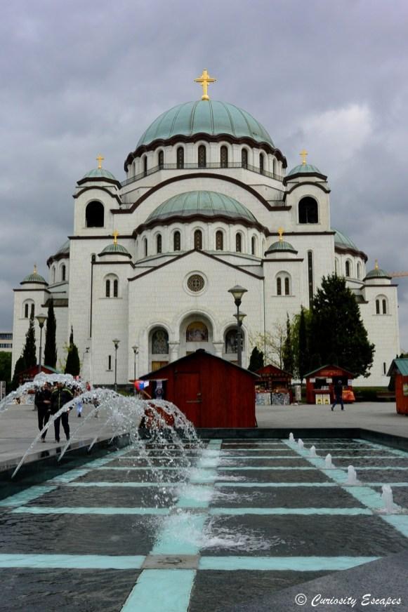 Cathédrale Saint Sava de jour, Belgrade
