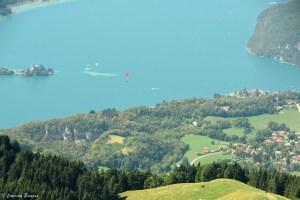 Parapente, lac d'Annecy