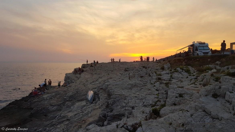 Coucher de soleil sur Pula en Croatie