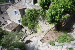 Les jardins suspendus du village de Labeaume