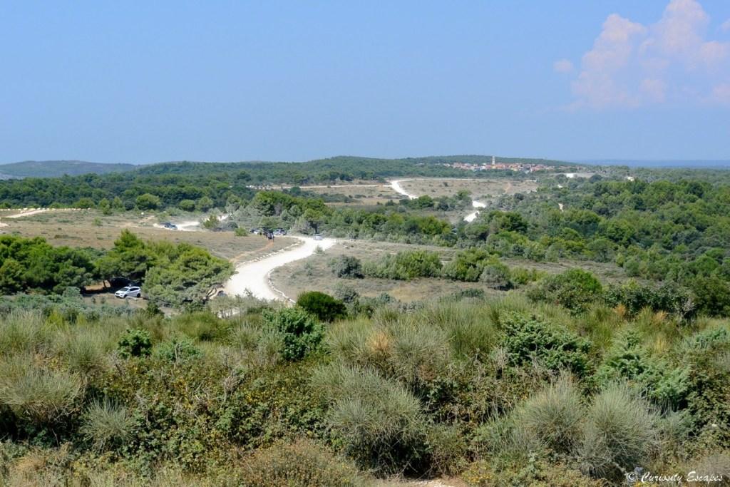 Pistes dans la réserve du Cap Kamenjak