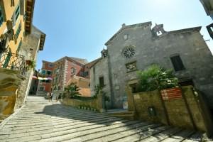 Eglise du village perché de Labin, Croatie