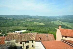 Vue sur la campagne croate à Motovun