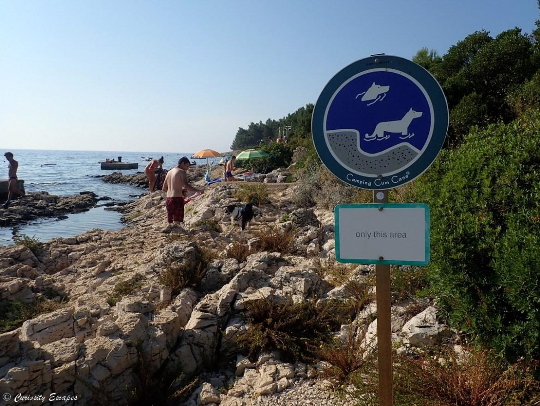 Plages de chien au camping Slatina en Croatie