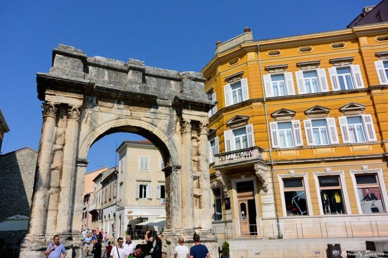 Centre ville de Pula, Croatie