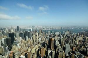 Vue depuis l'Empire State Building,New-York