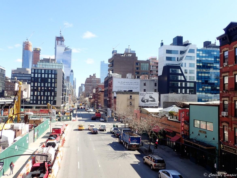 Vue depuis High Line park