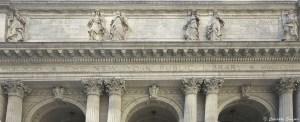 Façade classique de la New-York public library