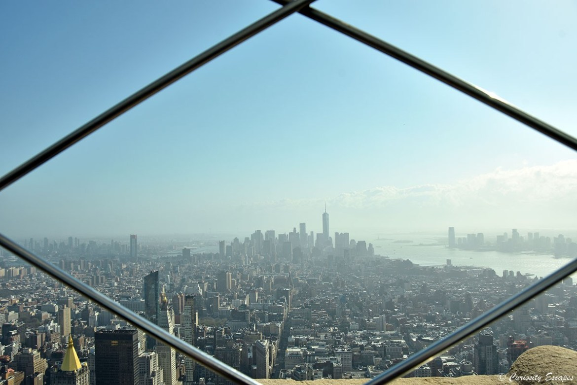 Vue depuis l'Empire State Building,New-York