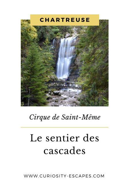 Randonnée des cascades au cirque de Saint-Même, Chartreuse, Rhône-Alpes