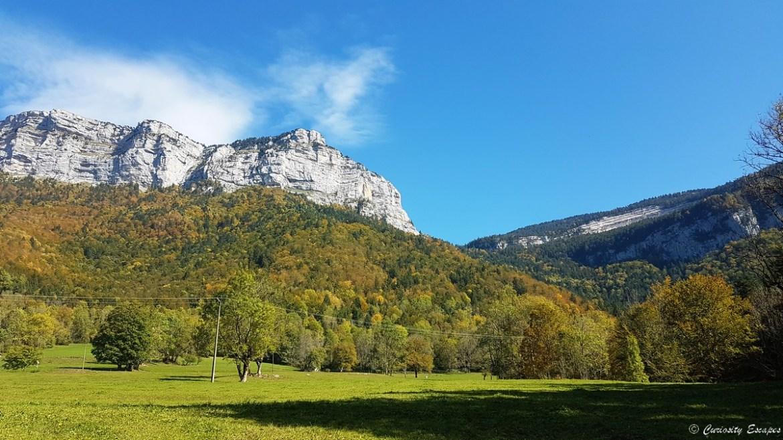 Cirque de Saint-Même en Chartreuse à l'automne
