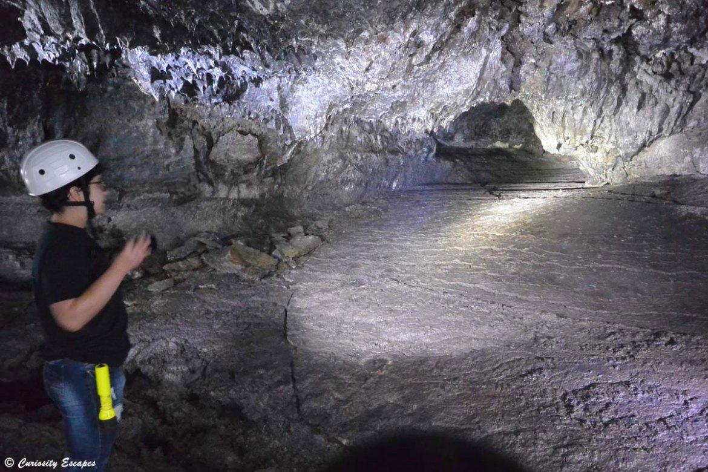 Tunnel de lave sur Pico, Açores