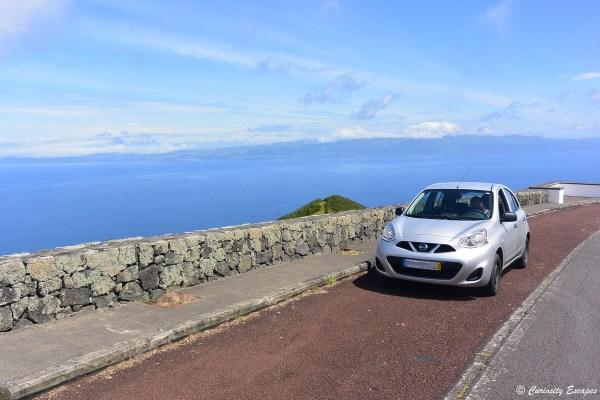 Voiture de ocation sur l'île de Pico, Açores