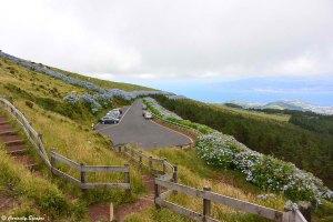 Parking de la Caldeira de Faial, les Açores