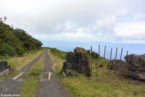 Piste non goudronnée sur l'île de Pico, Açores