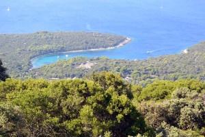 Baie sauvage de l'île de Losinj, Croatie
