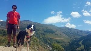Randonnée avec son chien à Valloire
