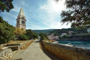 Clocher de Veli Losinj, île croate