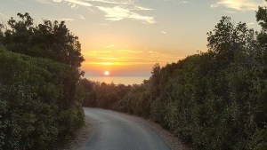 Coucher de soleil sur l'île de Cres