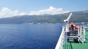 Ferry pour l'île de Cres en Croatie