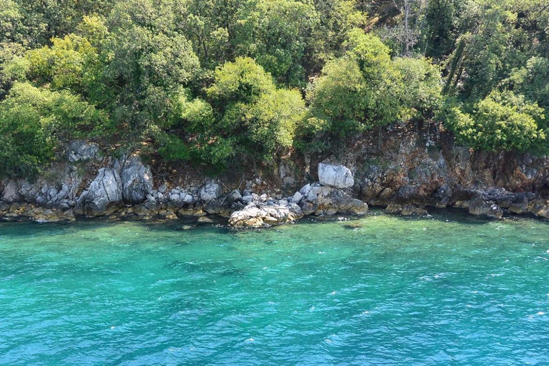 Eau cristalline des îles croates