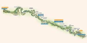 Tracé du Mastrou, train à vapeur de l'Ardèche