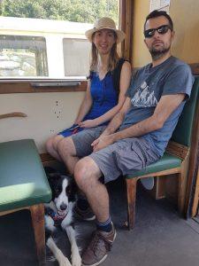 A bord du train à vapeur de l'Ardèche