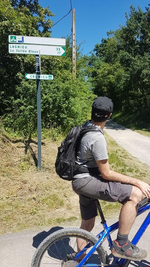 Panneau de la Via Rhôna en Isère