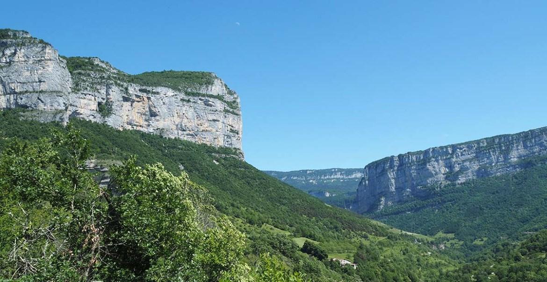 Panorama sur le Vercors depuis Choranche