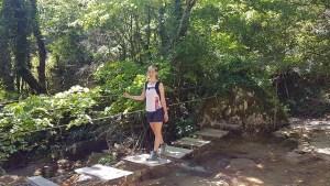 Pont en bois qui traverse le Gournier, Vercors