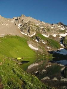 Bivouac au bord du lac d'Amour, Savoie