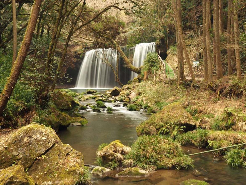Cascade de Nabegataki dans la préfecture de Kumamoto, Japon