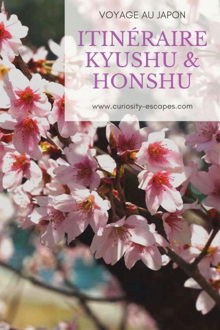 Itinéraire d'un voyage au Japon sur les îls de Kyushu et Honshu