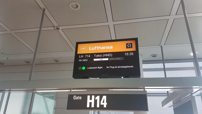 Vol Lufthansa à destination de Tokyo