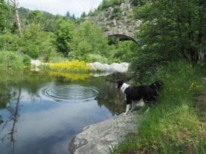 Lieu de baignade à Saint Sylvestre, en Ardèche