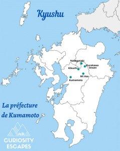 Sites d'intérêt à visiter dans la préfecture de Kumamoto au Japon