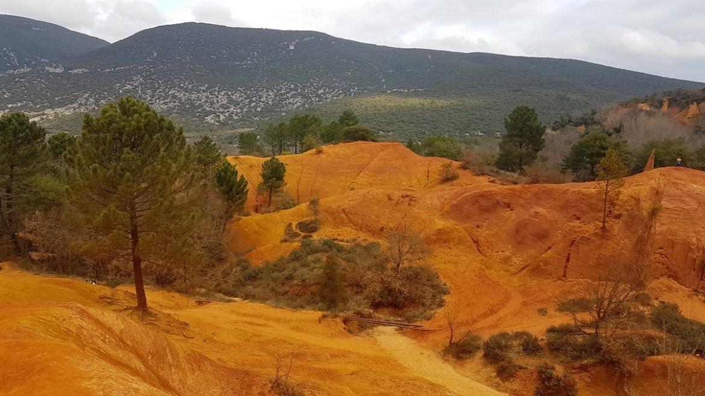 Ocre rouge dans le colorado provençal