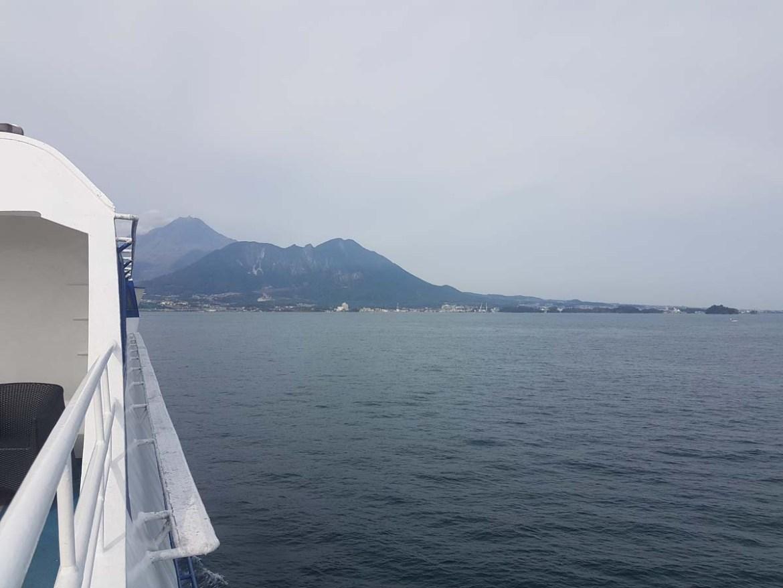 Ferry pour la presqu'île d'Unzen, Japon
