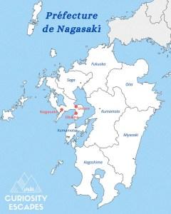Itinéraire dans la préfecture de Nagasaki, Japon