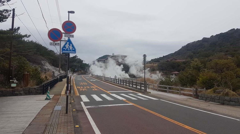 Route fumante d'Unzen