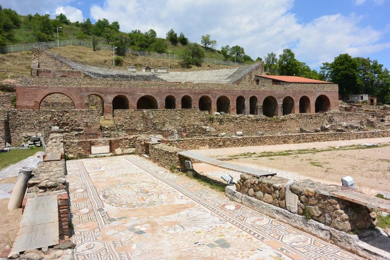 Mosaïque du site archéologique de Bitola