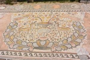 Mosaïque incroyable au site archéologique de Bitola