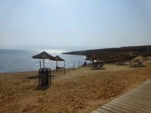 Beach at the Holiday Inn Resort Dead Sea