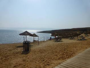 Beach at the Holiday Inn Resort Dead Sea