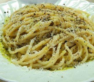 Cacio e Pepe, a classic Roman dish, (and my favorite!)